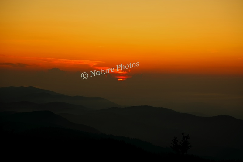 Sunset Clingmans Dome Smoky Mountains